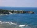 国頭村辺戸岬の巨大ヤンバルクイナがいる風景3