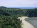 国頭村辺戸岬の巨大ヤンバルクイナがいる風景4