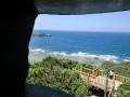 国頭村辺戸岬の巨大ヤンバルクイナがいる風景7